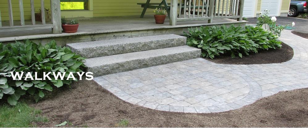 Stone Walkway and granite steps Holden MA