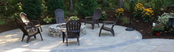 photo of a patio in Holden MA built by Ideal Landscape Maintenance & Construction