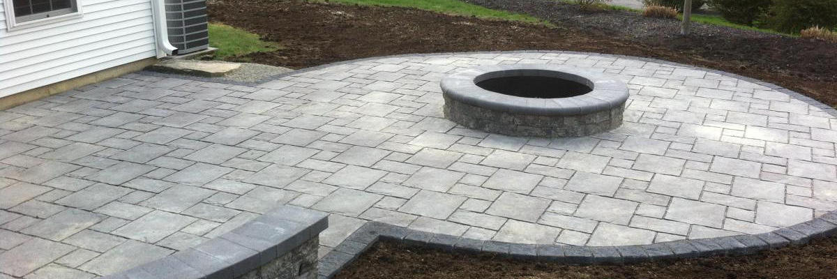 photo of a patio in Paxton MA built by Ideal Landscape Maintenance & Construction