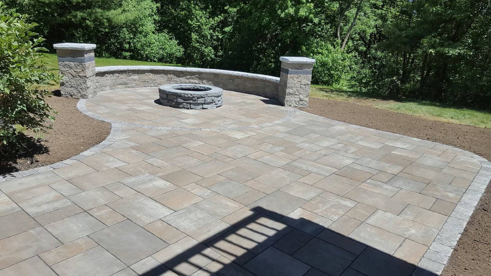 photo of a patio built in Shrewsbury MA by Ideal Landscape