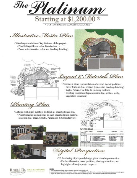 The Platinum Program- Landscaping design package from Ideal landscaping