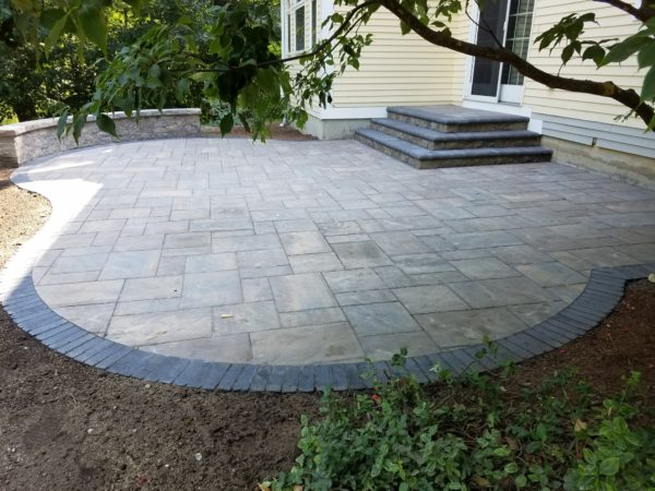 Shrewsbury MA Patio and stairs project from Ideal Landscape Maintenance & Construction