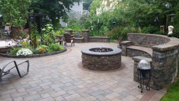 Patio built by West Boylston Patio Contractor Ideal landscape