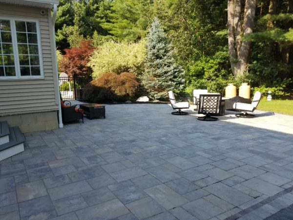 Patio Project in Grafton MA by Ideal Landscape