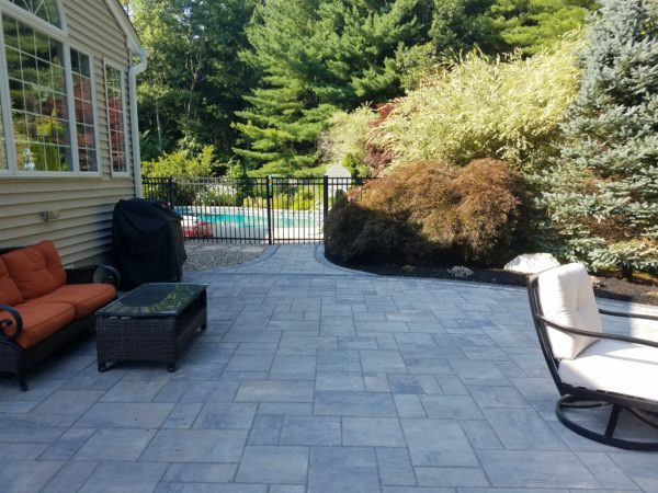 Patio in Grafton MA by landscape Design and Patio Contractor Ideal Landscape
