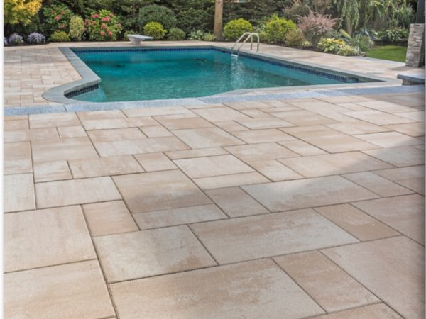 photo of a pool deck patio