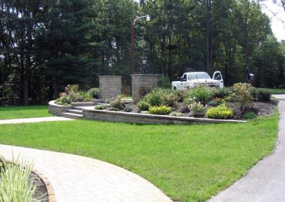 photo of landscaping and plantings by Ideal landscape Holden MA