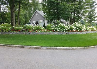 photo of a stone wall built by Ideal Landscape