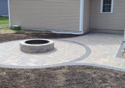 Unilock paver patio project in Jefferson MA by Ideal Landscape