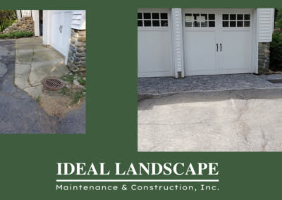 Driveway apron before and after Shrewsbury