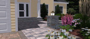 Front Entry walkway and steps holden ma-3d design