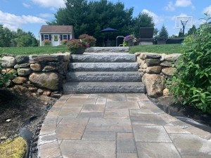 Granite Steps and Walkway in Jefferson MA- Ideal Landscape