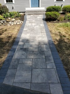 Paver walkway and Granite Steps- Auburn MA- Ideal Landscaping (1)