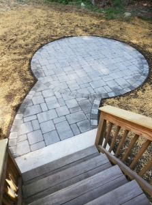 Round paver patio Holden MA- Ideal Landscape