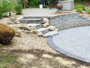 Round-patio-stone-steps-Rutland-MA-Ideal-landscaping-2