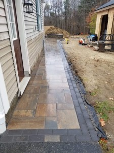 Walkway to patio- Unilock- Phillipston MA