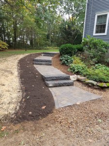 Walkways and steps Holden MA Ideal landscape