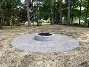 round patio and firepit Ideal Landscape-2